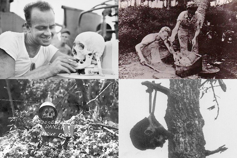 World War 2 - Human Skulls Mutilation